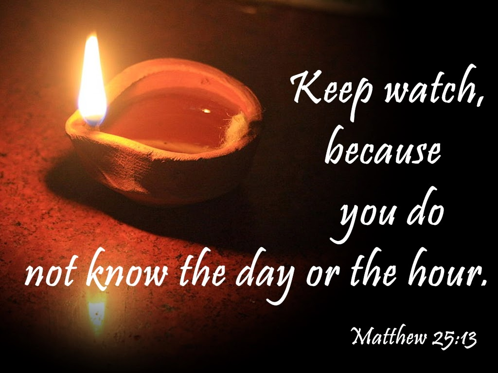 Image result for MATT. 25:13