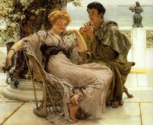 The Proposal  by Sir Alma Tadema, 1892