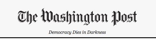 "Washington Post's new ""Democracy Dies in Darkness"" slogan: a trademark case  study | Erik M Pelton & Associates, PLLC"